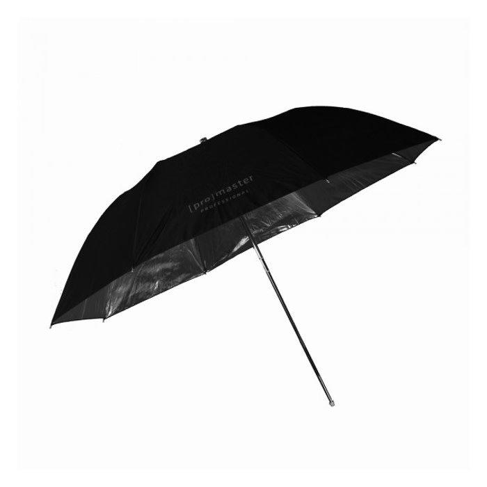 """ProMaster Compact Black and Silver Umbrella 45"""""""