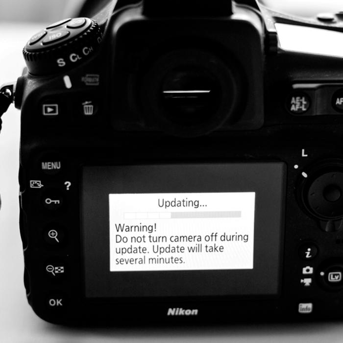 Camera or Lens Firmware Update