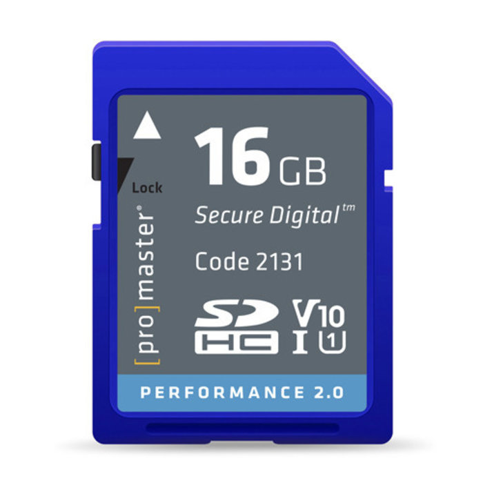 ProMaster Performance 2.0 SD Card 16GB -163x