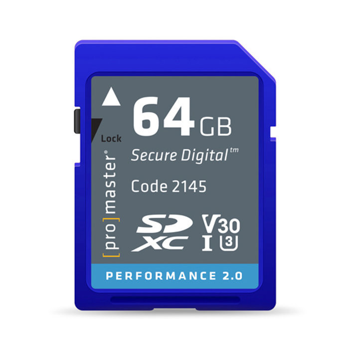 ProMaster Performance 2.0 SD Card 64GB - 266x