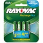Rayovac Platinum AAA NiMH Battery - 4pk