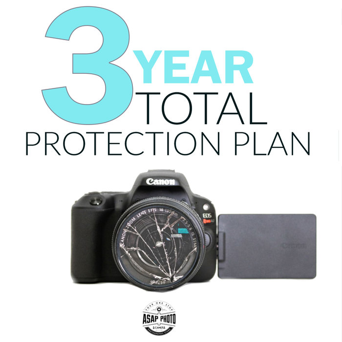 Total Protection Plan 3-Year Silver Warranty - Camera & Lens $350-500