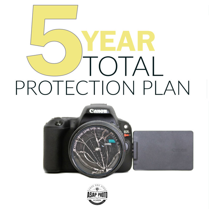 Total Protection Plan 5-Year Gold Warranty - Camera & Lens $250 or Less