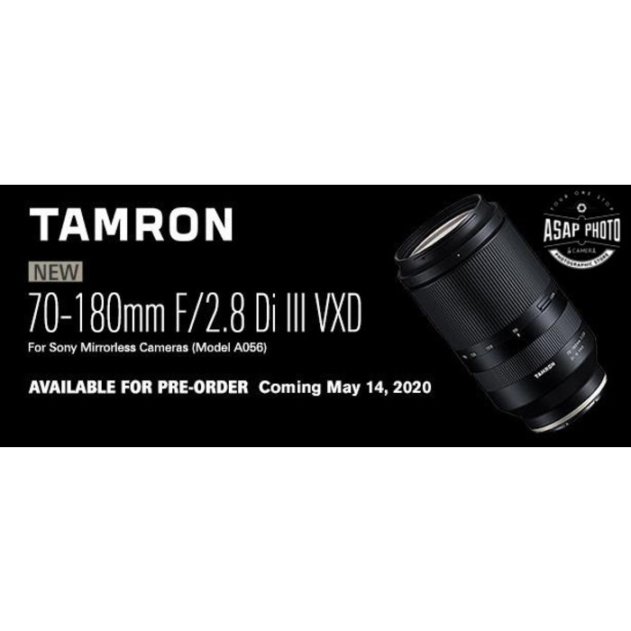 Tamron 70-180mm F/2.8 Di III VXD for Sony E-mount