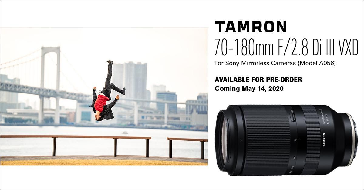 Pre-order the Tamron 70-180mm for Sony through ASAP Photo & Camera