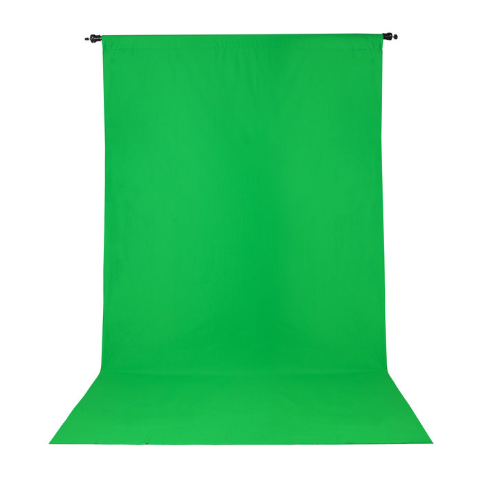 Wrinkle Resistant Backdrop 10'x12' - Chroma-key Green
