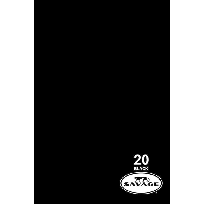 "Savage 107"" Seamless Paper Black"