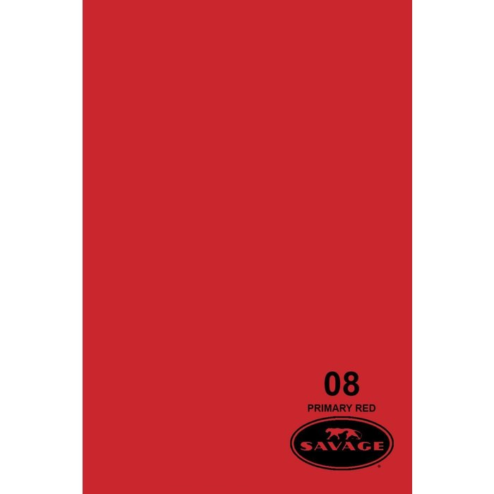"Savage 107"" Seamless Paper Primary Red"