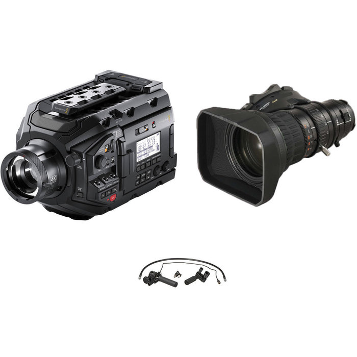 Blackmagic Design URSA Broadcast Camera & Fujinon 5BRM-K3 MS-01 Semi Servo Rear Control Kit