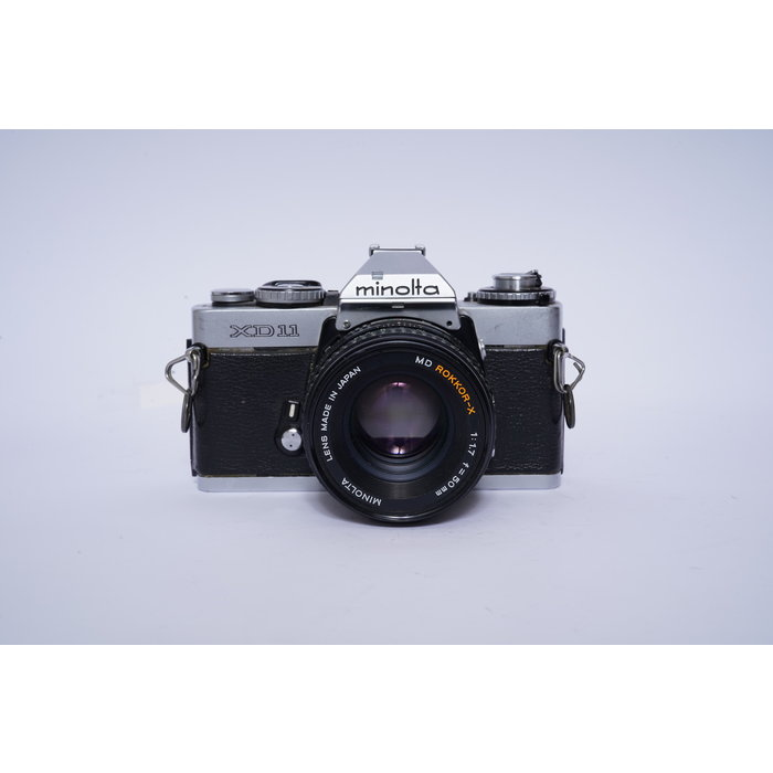 Minolta XD11 w/ 50mm f/1.7 Rokkor-X