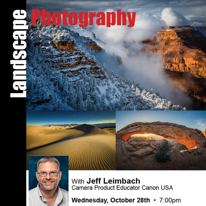 Landscape Photography with Canon (October 28th, 2020) *Free Class*