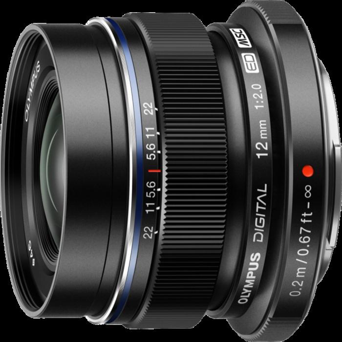 Olympus M.Zuiko Digital ED 12mm f/2 Lens (Black)