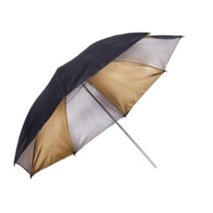 """ProMaster 60"""" Gold and Silver Umbrella"""