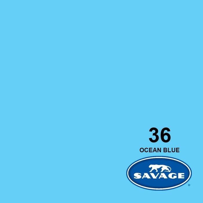 """Savage 107"""" Seamless Paper Ocean Blue"""