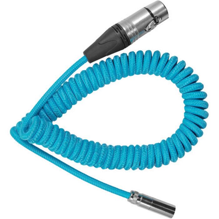 Kondor Blue Coiled Mini XLR to XLR Cable for C70 & BMPCC4K/6K (12''-24'')