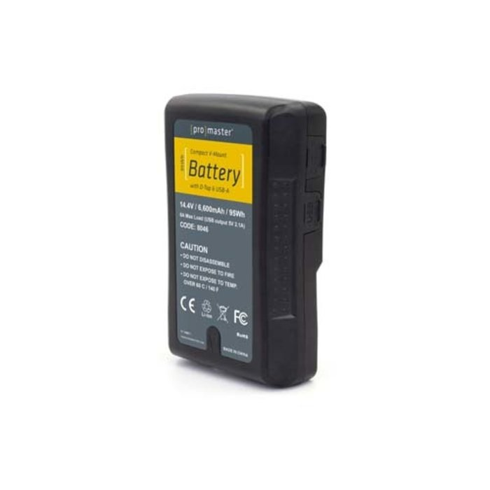 Promaster Compact V-Mount Battery Kit 95Wh with D-Tap & USB-A