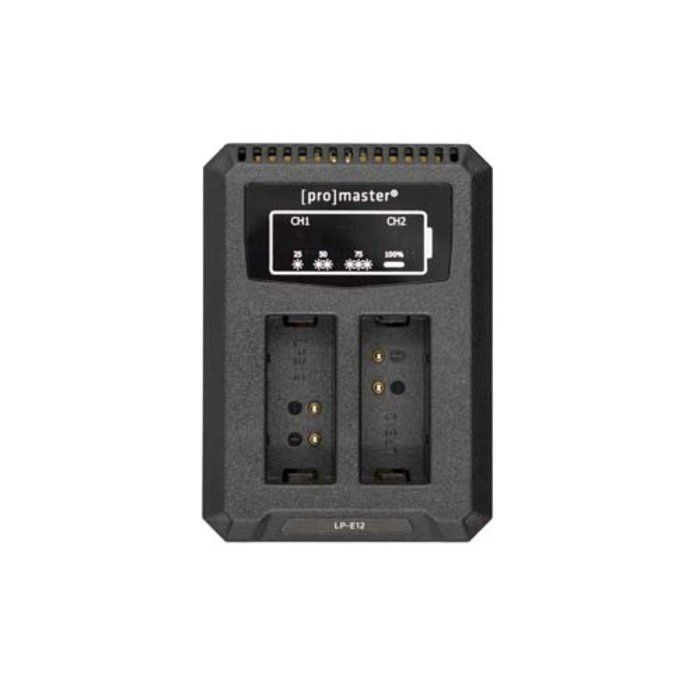 Promaster DUALLY CHARGER - USB FOR CANON LP-E12