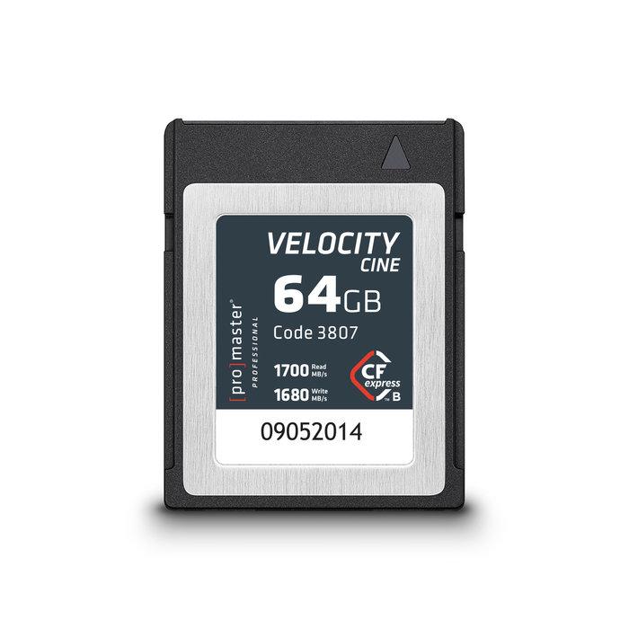 Promaster CFexpress Type B 64GB Velocity CINE