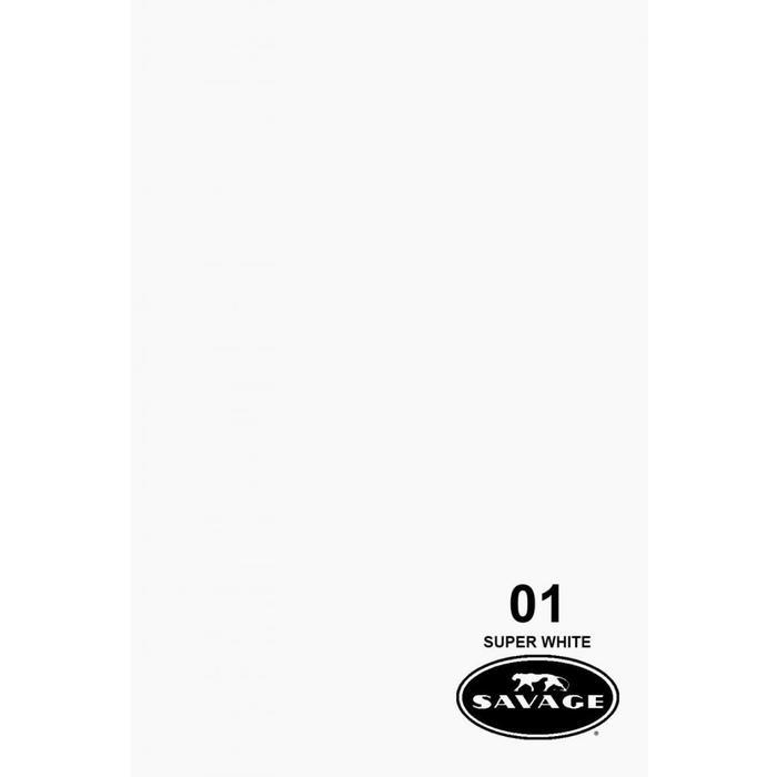"Savage 107"" Seamless Paper Super White"