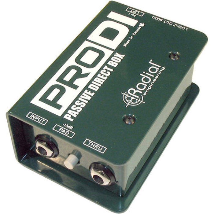 Radial R800 1100 Pro DI Full Range Passive Direct Box