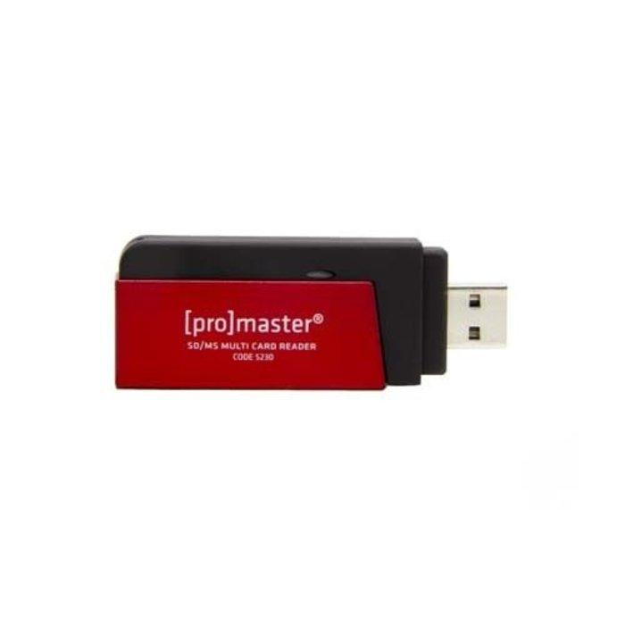 ProMaster SD/SDHC/MS Card Reader USB 2.0