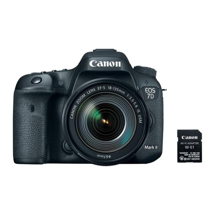 Canon EOS 7D Mark II Body w/ 18-135mm f/3.5-5.6 IS USM Lens & W-E1 Wi-Fi Adapter