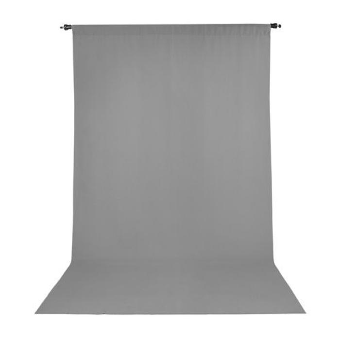 ProMaster 10x12 Solid Muslin Backdrop - Grey