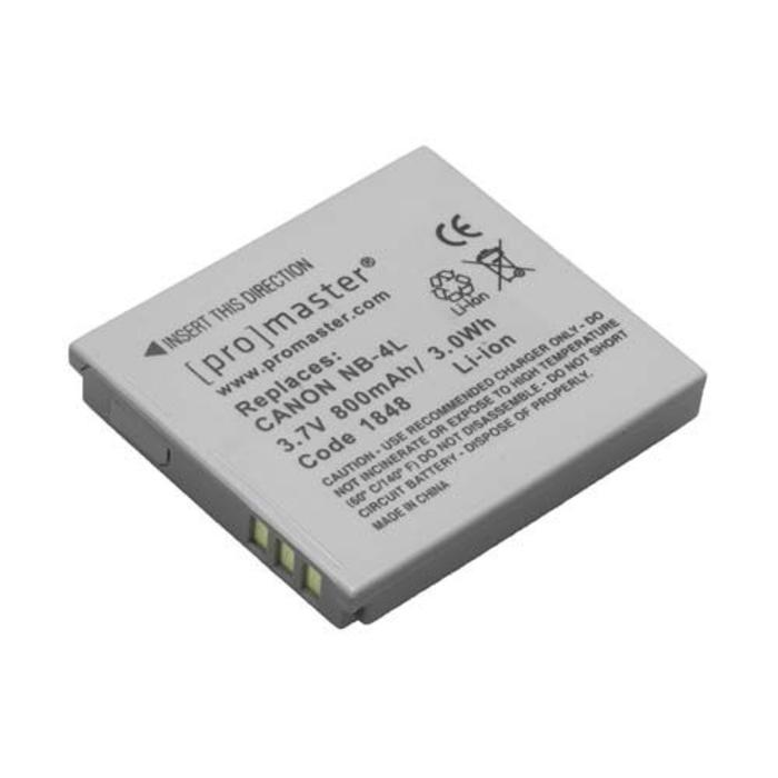 ProMaster NB-4L Battery - Canon ELPH 330, ELPH 310, ELPH 1000