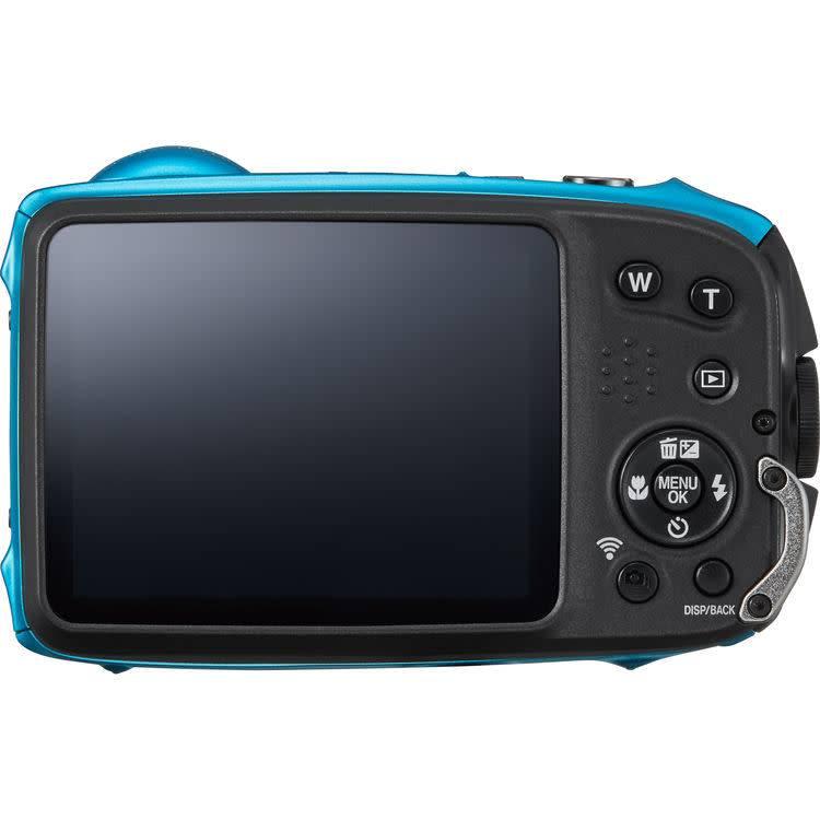 fuji finepix xp130 sky blue with 16gb sd card asap photo and camera