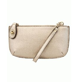Joy Mini Crossbody Wristlet Clutch in Spring Metallics