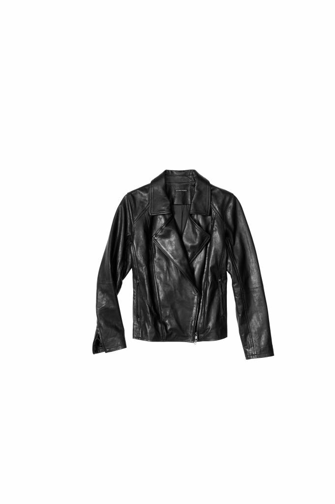 Eileen Fisher WAXED ORGANIC COTTON MOTO JACKET