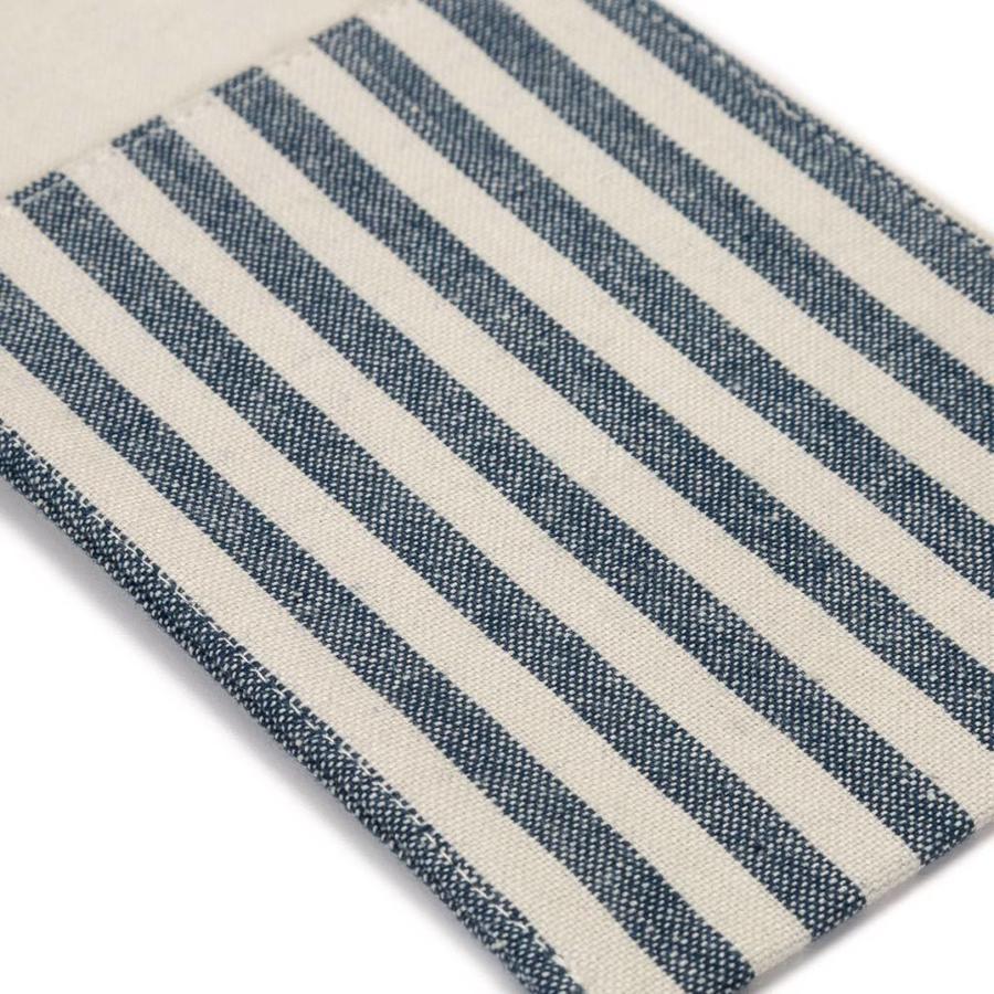 Pochettes à ustensiles en chambray à fines rayures bleues - Photo 1