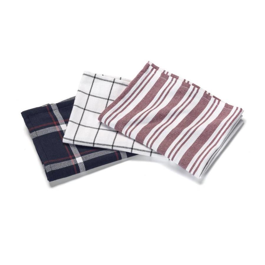 Ensemble de 3 linges à vaisselle aux motifs variés - Photo 0