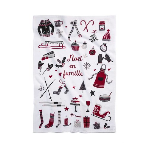 <i>Noël en famille</i> Tea Towel
