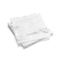 Serviettes de table en papier à motifs de flocons argentés