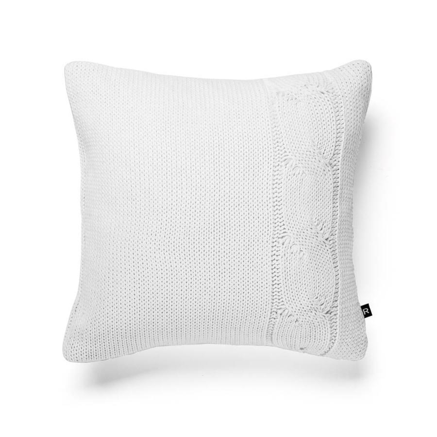 Coussin en tricot blanc - Photo 0