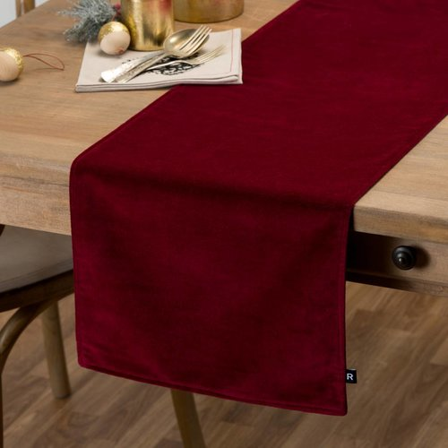 Chemin de table rouge en velours