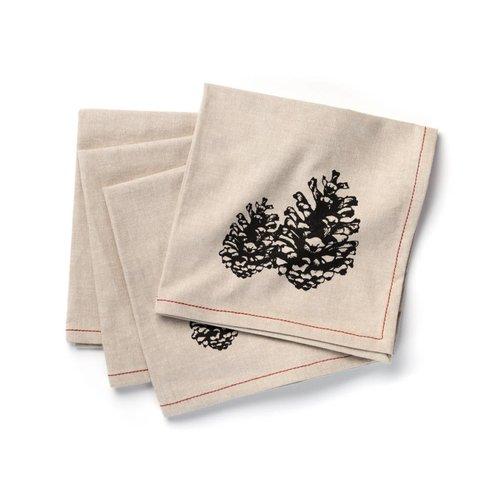 Serviettes de table à motifs de cocottes