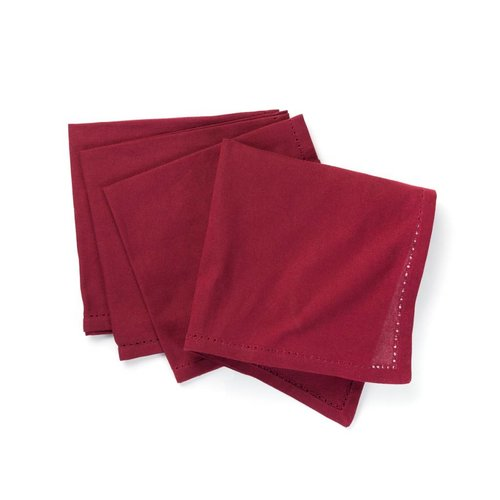 Serviettes de table rouge grenat