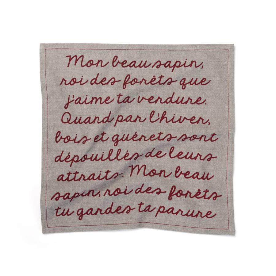 Serviettes de table « Mon beau sapin, roi des forêts » - Photo 1