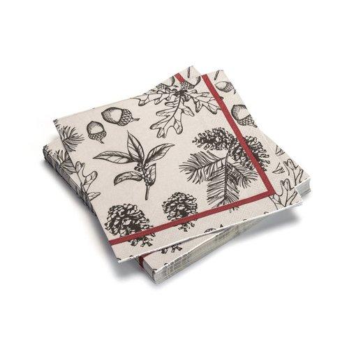 Serviettes de table en papier «Feuillage et sapinage»