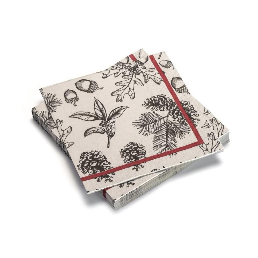 Serviettes de table en papier «Feuillage et sapinage» - Photo 0