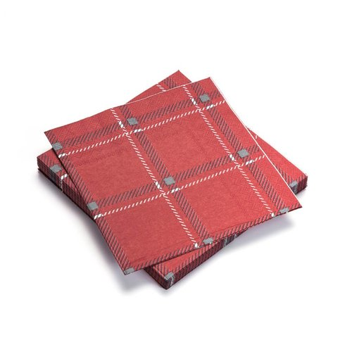Red Checkered Paper Napkins