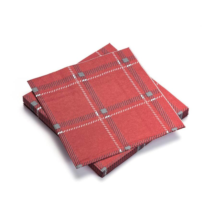 Red Checkered Paper Napkins - Photo 0