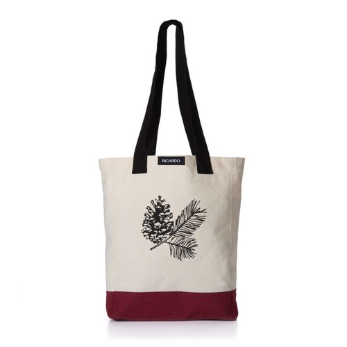 Pine Cone Print Shopping Bag