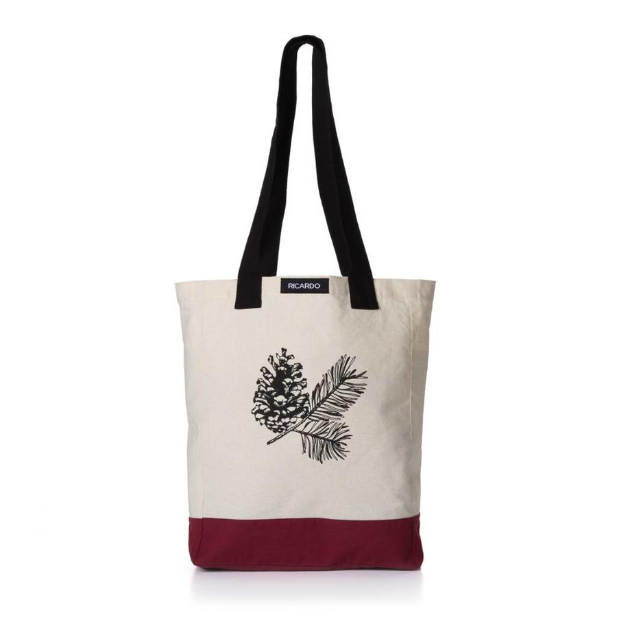 Pine Cone and Twig Print Shopping Bag - Photo 0