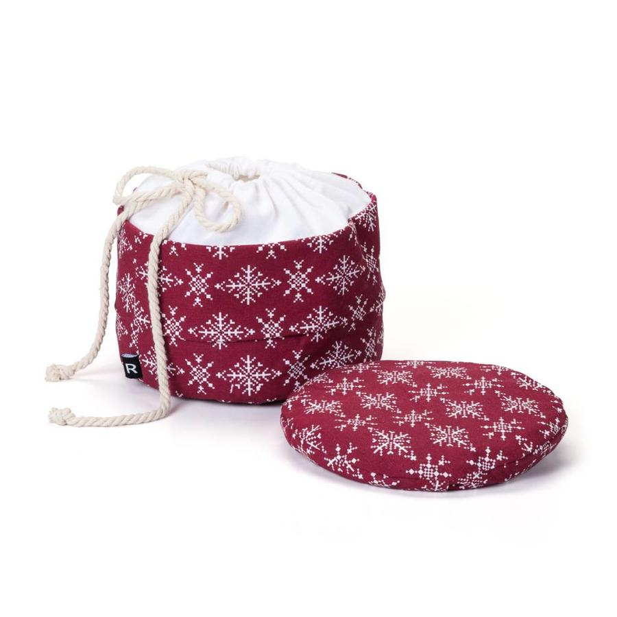 Red Bread Bag with White Snowflakes - Photo 1