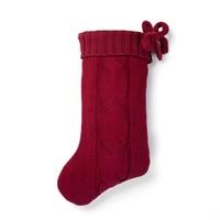 Bas de Noël rouge en tricot