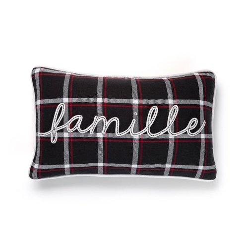 Checkered <i>Famille</i> Cushion