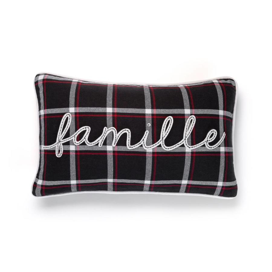 Checkered <i>Famille</i> Cushion - Photo 0